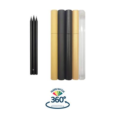 흑목육각미두연필 3본입 SET