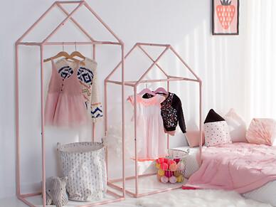 하우스 키즈 옷장 (핑크) [84A 아이방]