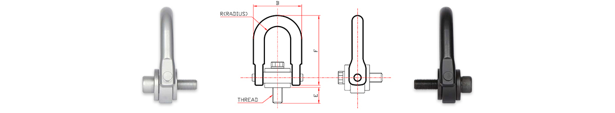 safety engineered hoist ring, swivel eyebolt, lifting ring, lifting point