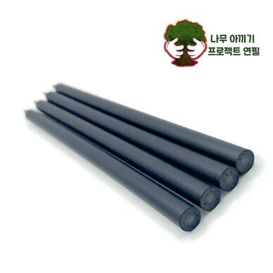 인서트 블랙펜슬- 플라스틱 재생연필  (절단연필)