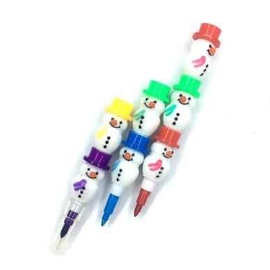 눈사람 블럭 색연필