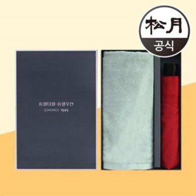 송월타올 송월 라이트무지40 + 송월3단 컬러무지 2p 콤보세트