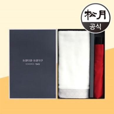 송월타올 송월 풍차40 + 송월3단 컬러무지 2p 콤보세트