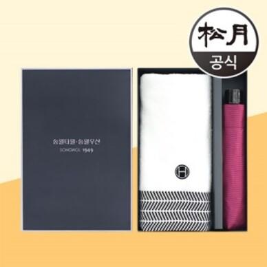 송월타올 호텔컬렉션 어로우40 + 송월 3단 미니하운드체크 2p 콤보세트