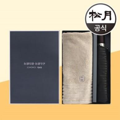 송월타올 호텔컬렉션 필라라인40 + 송월3단 블럭완자 2p 콤보세트